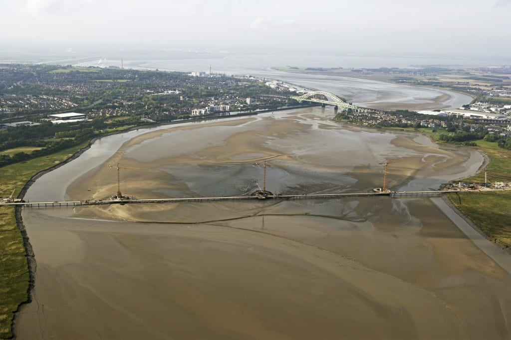 Construction on the Mersey Gateway Project - a major new infrastructure investment (and DTW client) with UK government backing