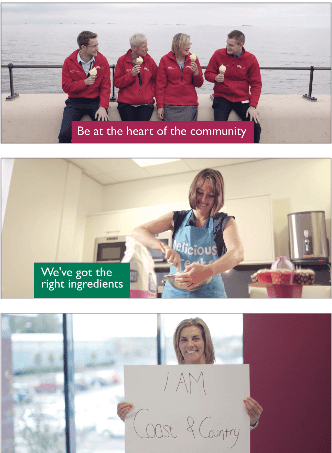 Our 'I am Coast & Country' video has been used as the centre of Coast & Country's induction programme and broader and internal communications work